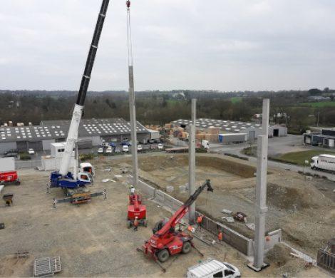 Construction d'une nouvelle chambre froide négative en centre Bretagne