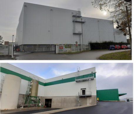 Travaux en cours chez TENDRIADE (Groupe VANDRIE) pour la construction d'une nouvelle chambre froide et l'extension des frigos